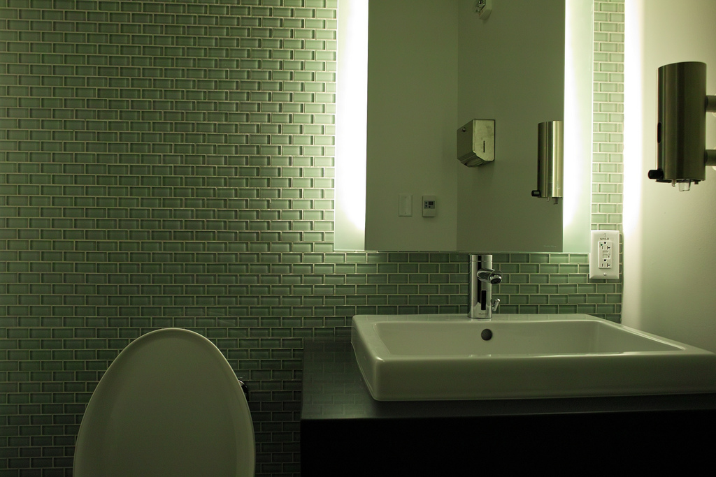 Green tint bathroom design available