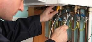 plumber hands on