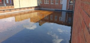 Flooded roof in Bristol